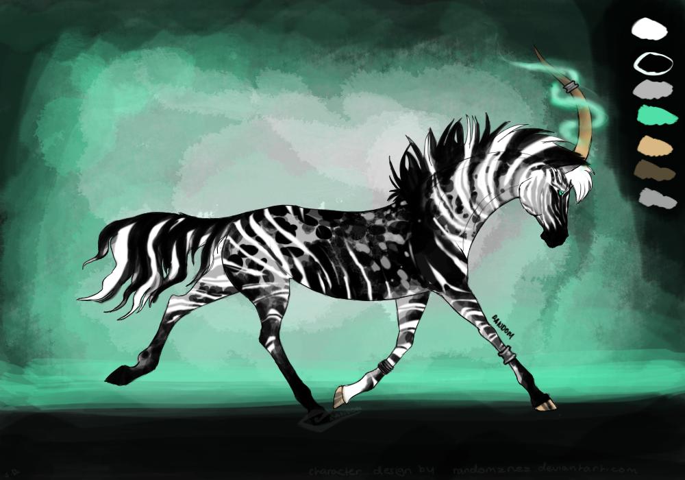 DA point auction zebera unicorn design CLOSED by Randomznez
