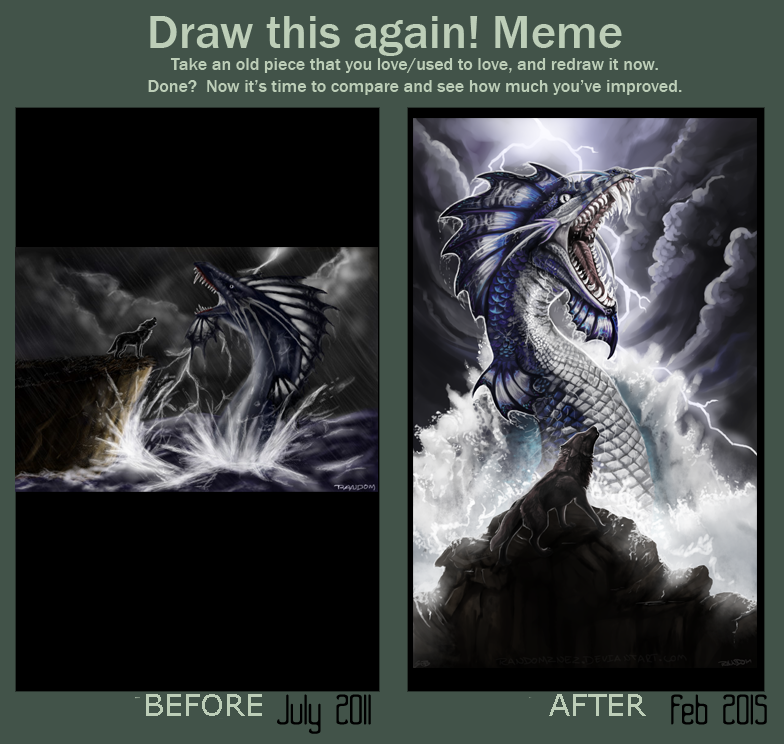 Draw this again meme - Symphony of Thunder by Randomznez