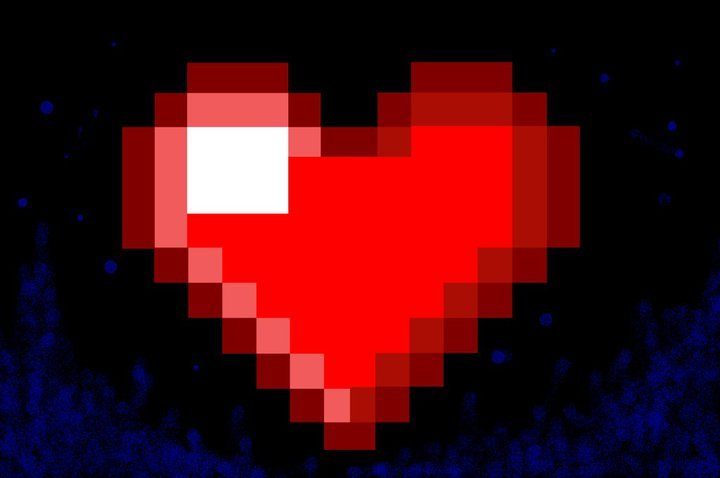 8bit Heart Wallpaper  1680x1050  ID44627