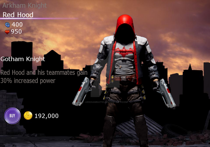 Injustice Arkham Knight Red Hood by ArkhamNatic on DeviantArt