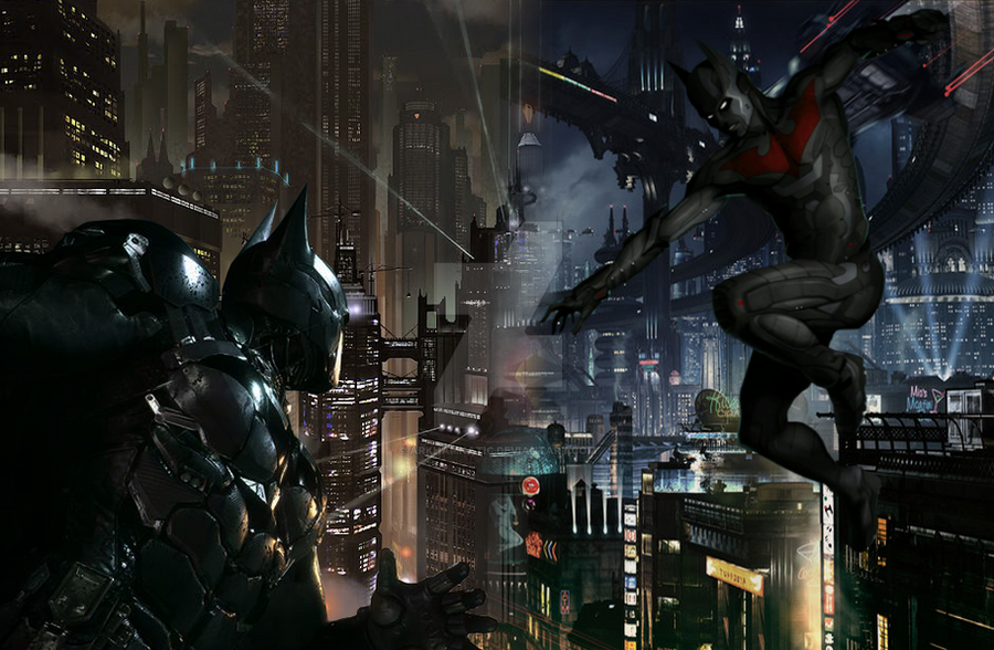 Batman vs Batman Beyond by ArkhamNatic on DeviantArt