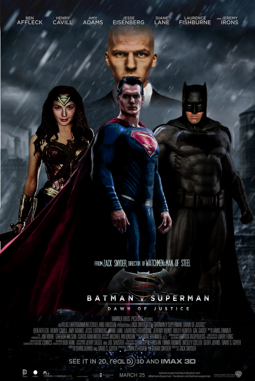 Batman vs Superman Dawn of Justice movie poster by ...