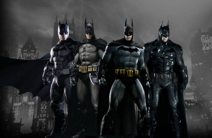 batman arkham suits by arkhamnatic on deviantart