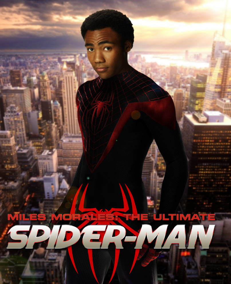 Donald Glover as Miles Morales by ArkhamNatic on DeviantArt