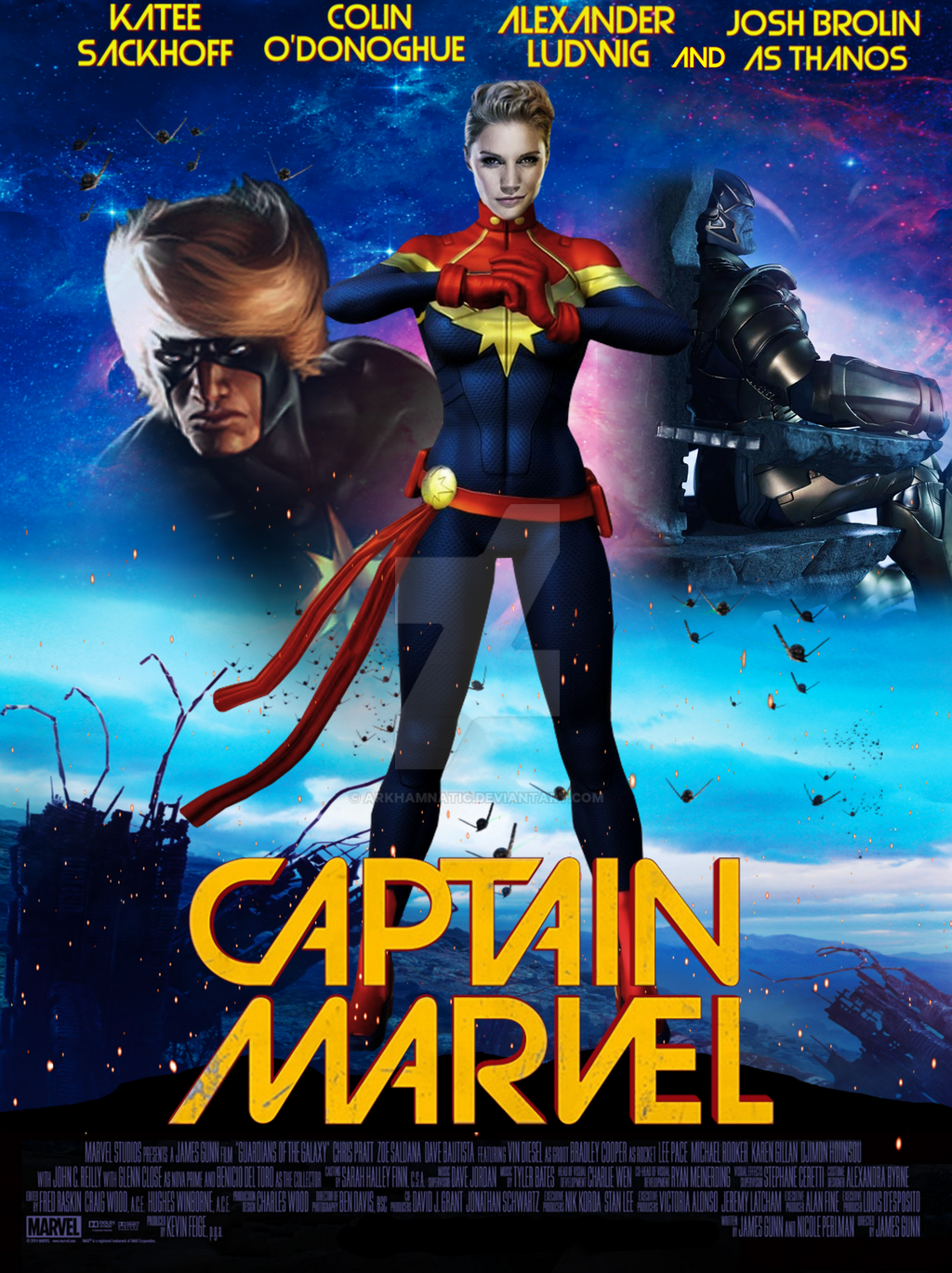 captain marvel movie poster by arkhamnatic on deviantart