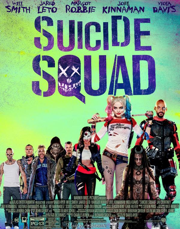 suicide squad movie poster by arkhamnatic on deviantart. Black Bedroom Furniture Sets. Home Design Ideas