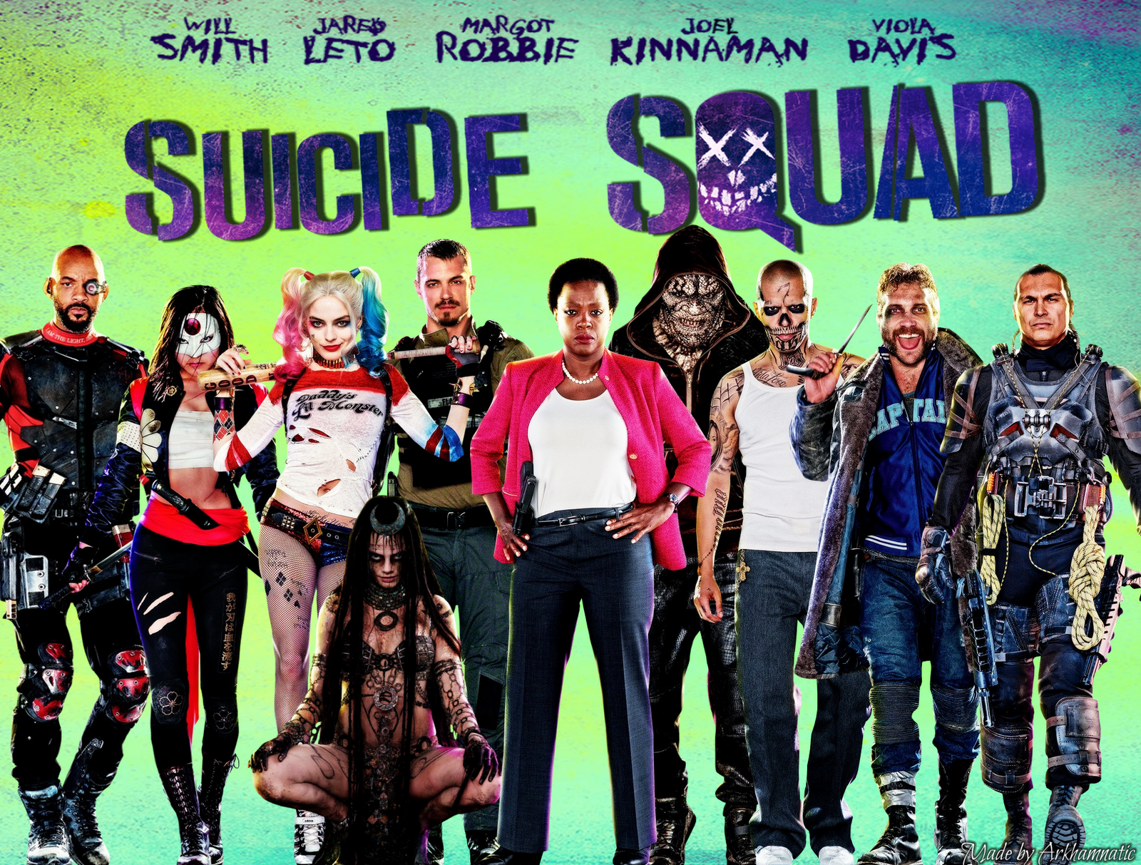Suicide Squad movie wallpaper by ArkhamNatic on DeviantArt
