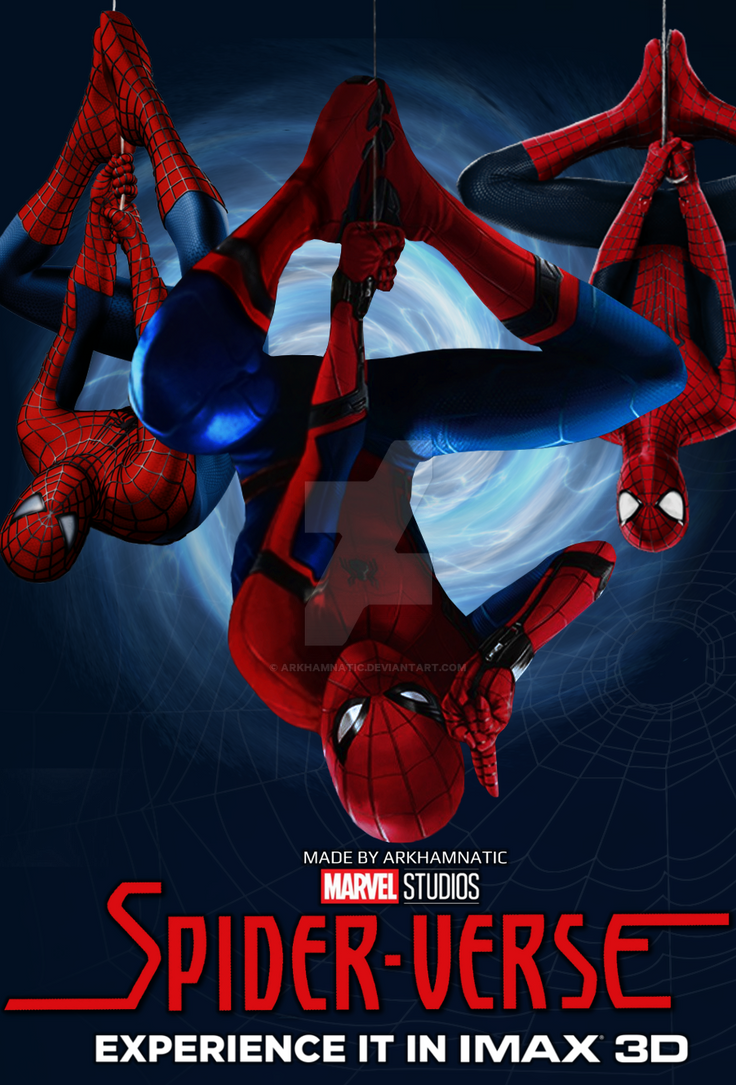 SpiderVerse movie poster by ArkhamNatic on DeviantArt