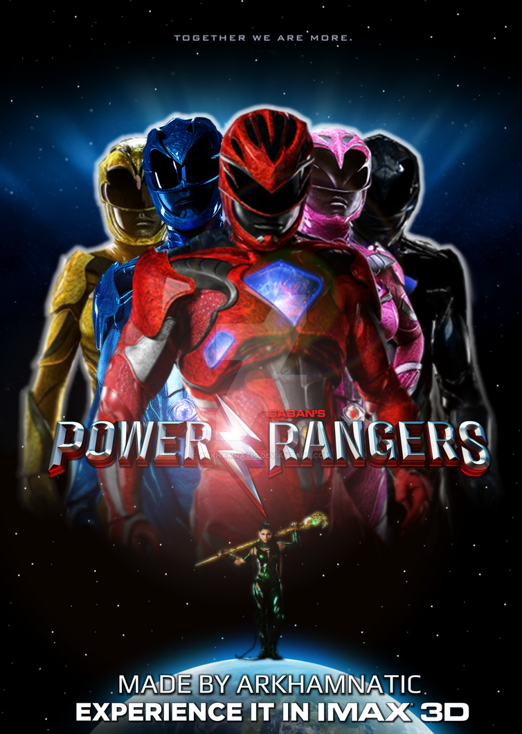 Power rangers movie poster book