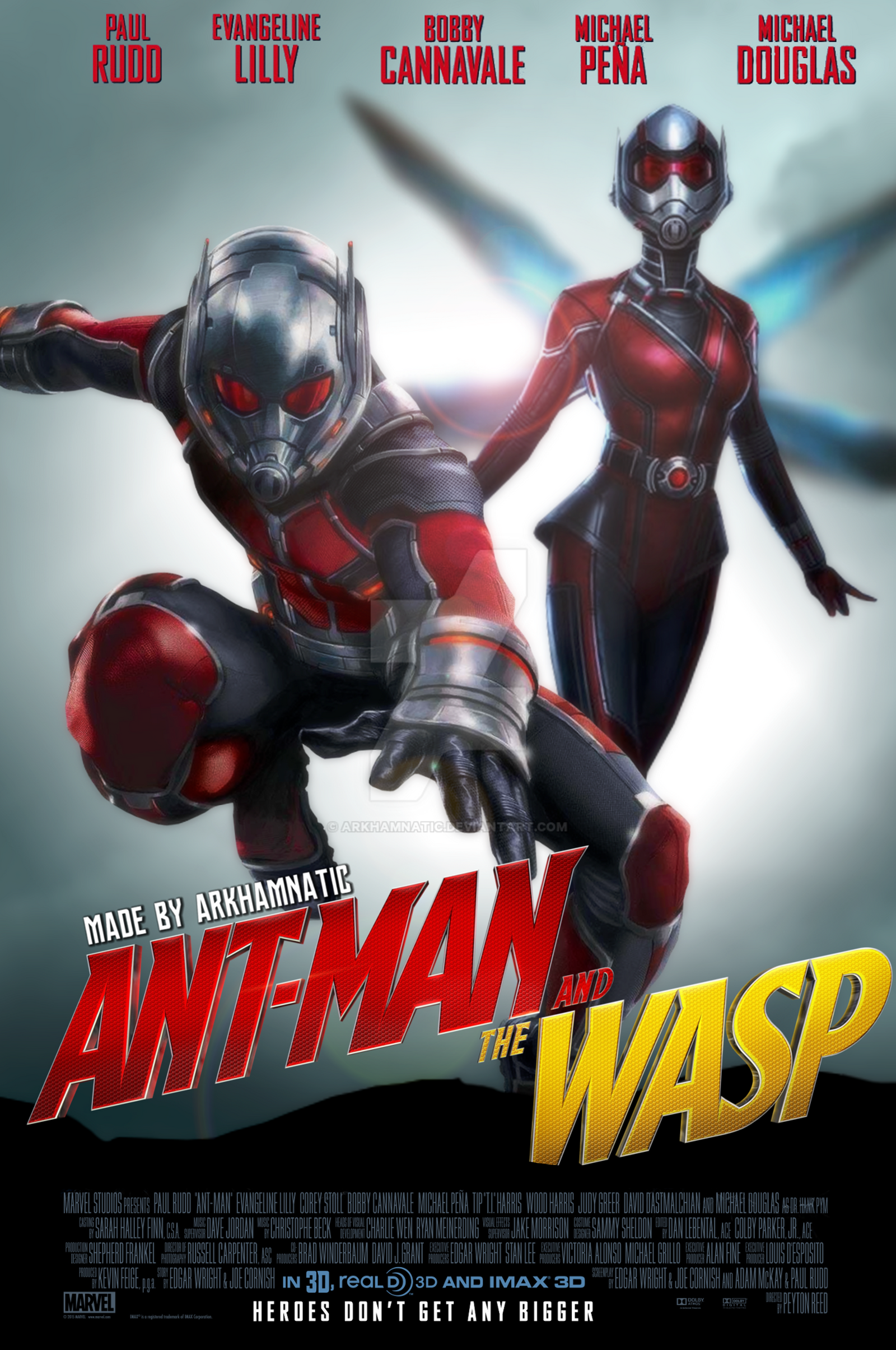 Ant-man and the Wasp movie poster by ArkhamNatic on DeviantArt