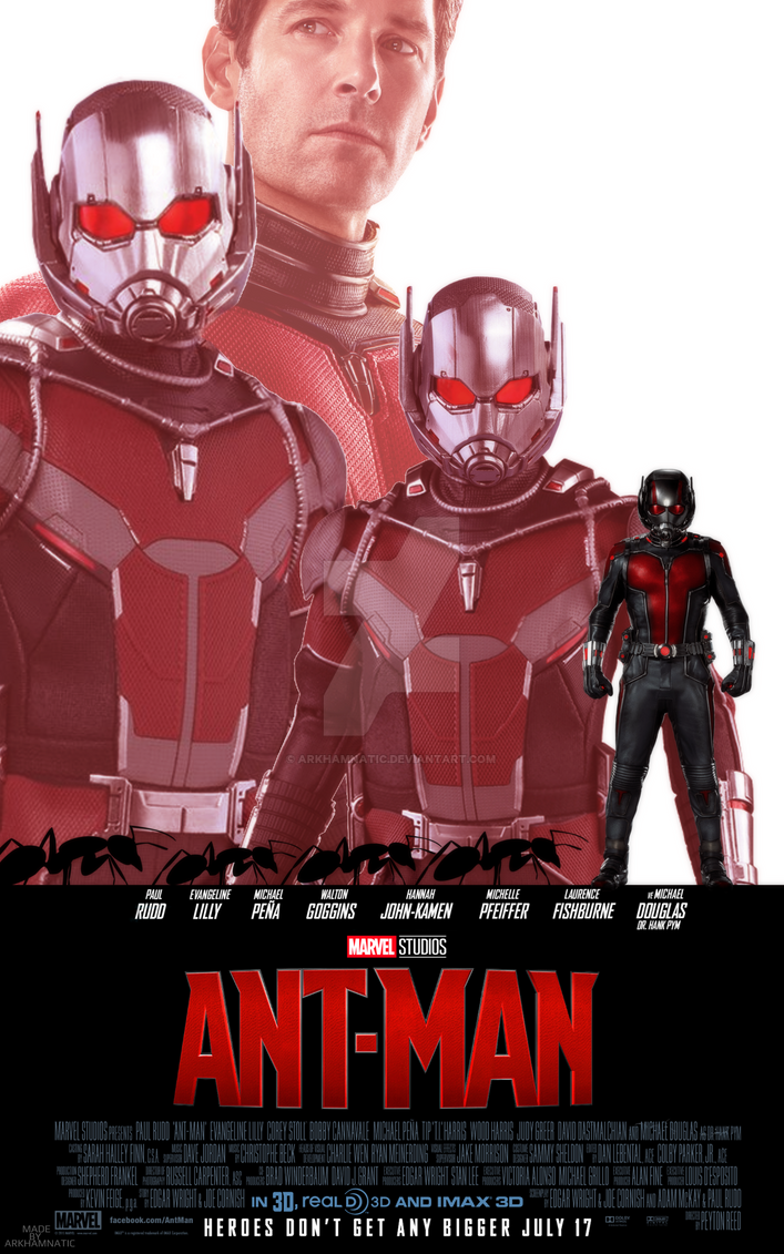 Marvel's Ant-Man movie poster by ArkhamNatic