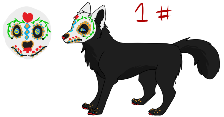 Free adopts (8) Day_of_the_dead_wolf_adopt__1_by_schizophrenicfennec-d5bcy4s