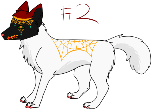 Free adopts (8) Day_of_the_dead_wolf_adopt__2_by_schizophrenicfennec-d5bcy8f