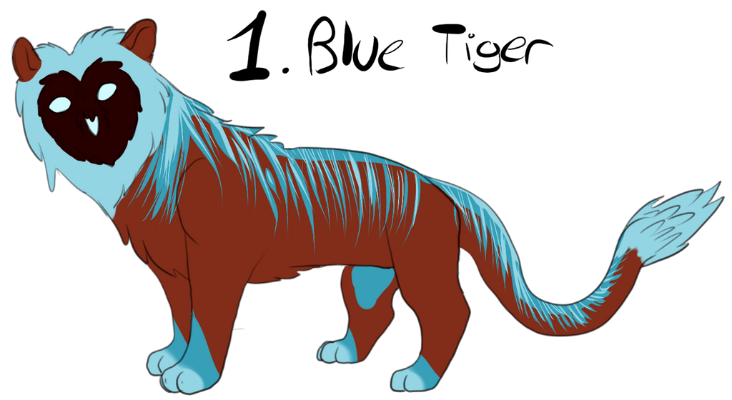 Free adopts (8) 1__blue_tiger_adoptable_by_schizophrenicfennec-d6684rn