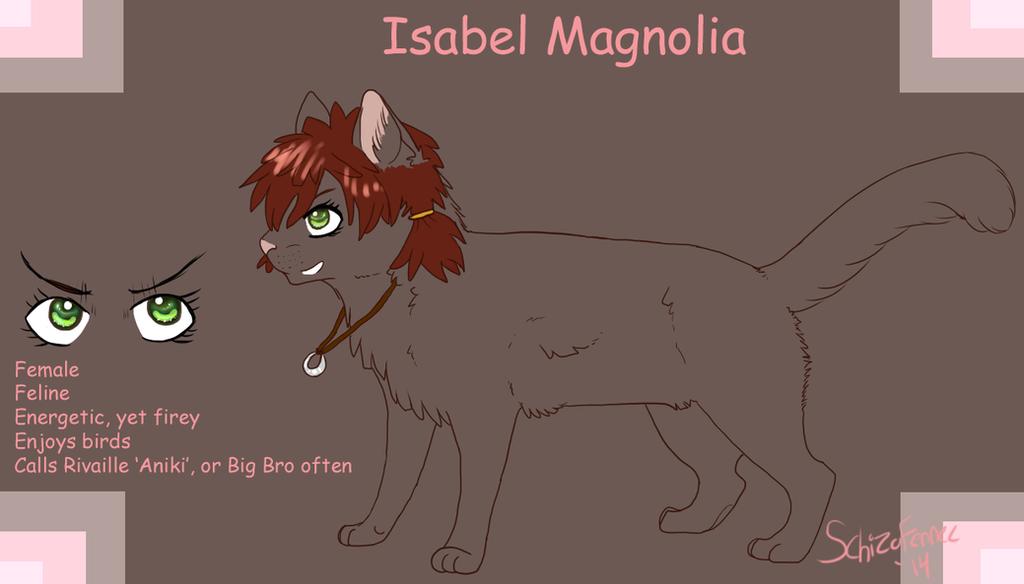 Jager's Doodles Isabel_magnolia_by_schizophrenicfennec-d89kebm