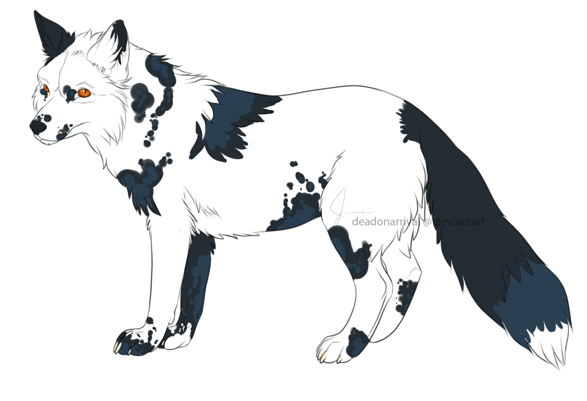 5 adopts! $3 each! NEW! Fox_lineart_by_schizophrenicfennec-d8oxbmi