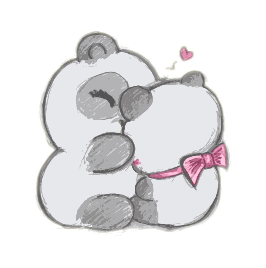 Cute Panda Love Drawing
