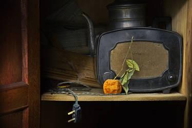 Vintage Orange Radio