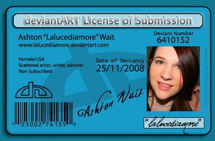 DA license ... by lalucediamore