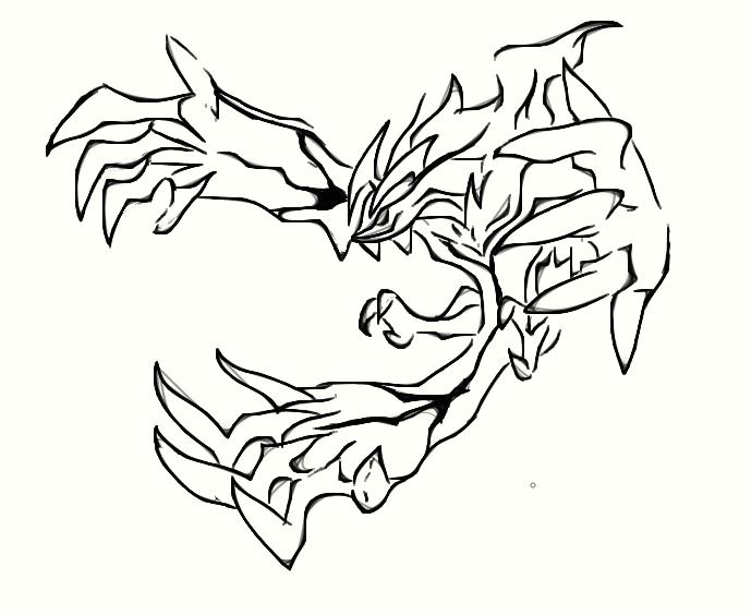Yveltal by arubinokyuketsuki on deviantart for Pokemon yveltal coloring pages