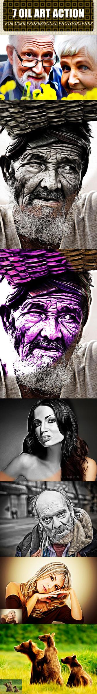 7 Oil Art Action by SelenaParker