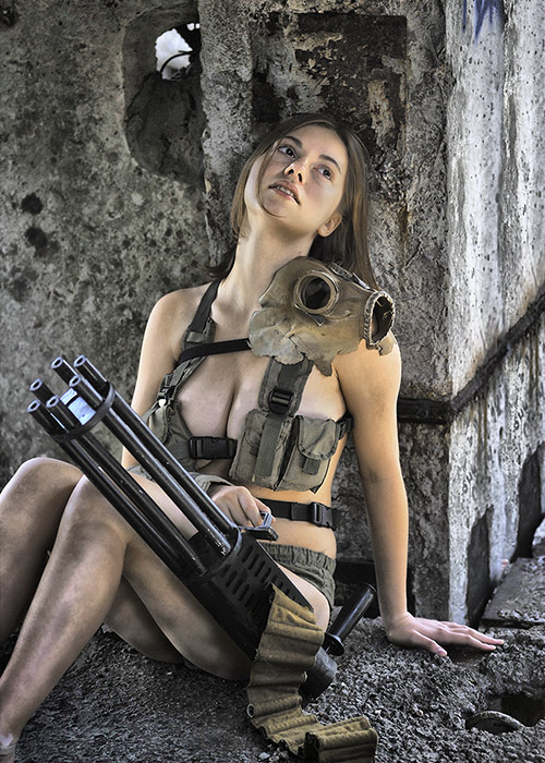 Polina with minigun #3 by ohlopkov on DeviantArt