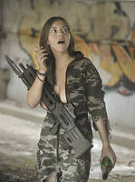 Polina with rifle #5 by ohlopkov