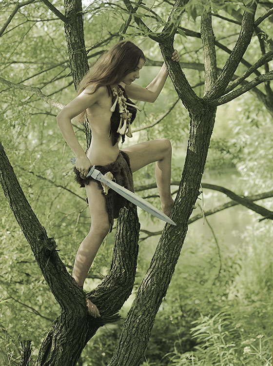 from Zackary nude warrior girl with spear