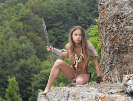 Cave girl #3 by ohlopkov