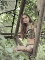 Postapocalyptic jungle girl #2 by ohlopkov
