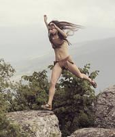 Jumping girl #2 by ohlopkov
