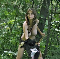 Polina with spear #8 by ohlopkov