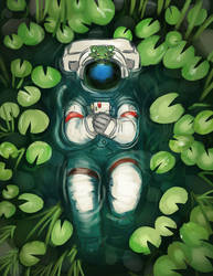 Commission: Astronaut and a Frog
