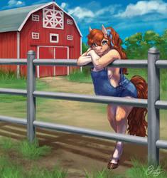 Commission: A Farm Girl