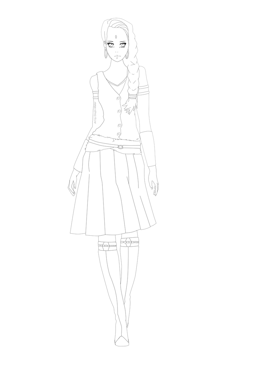 Line Art Generator From Image : Future sakura line art by doujin maker on deviantart