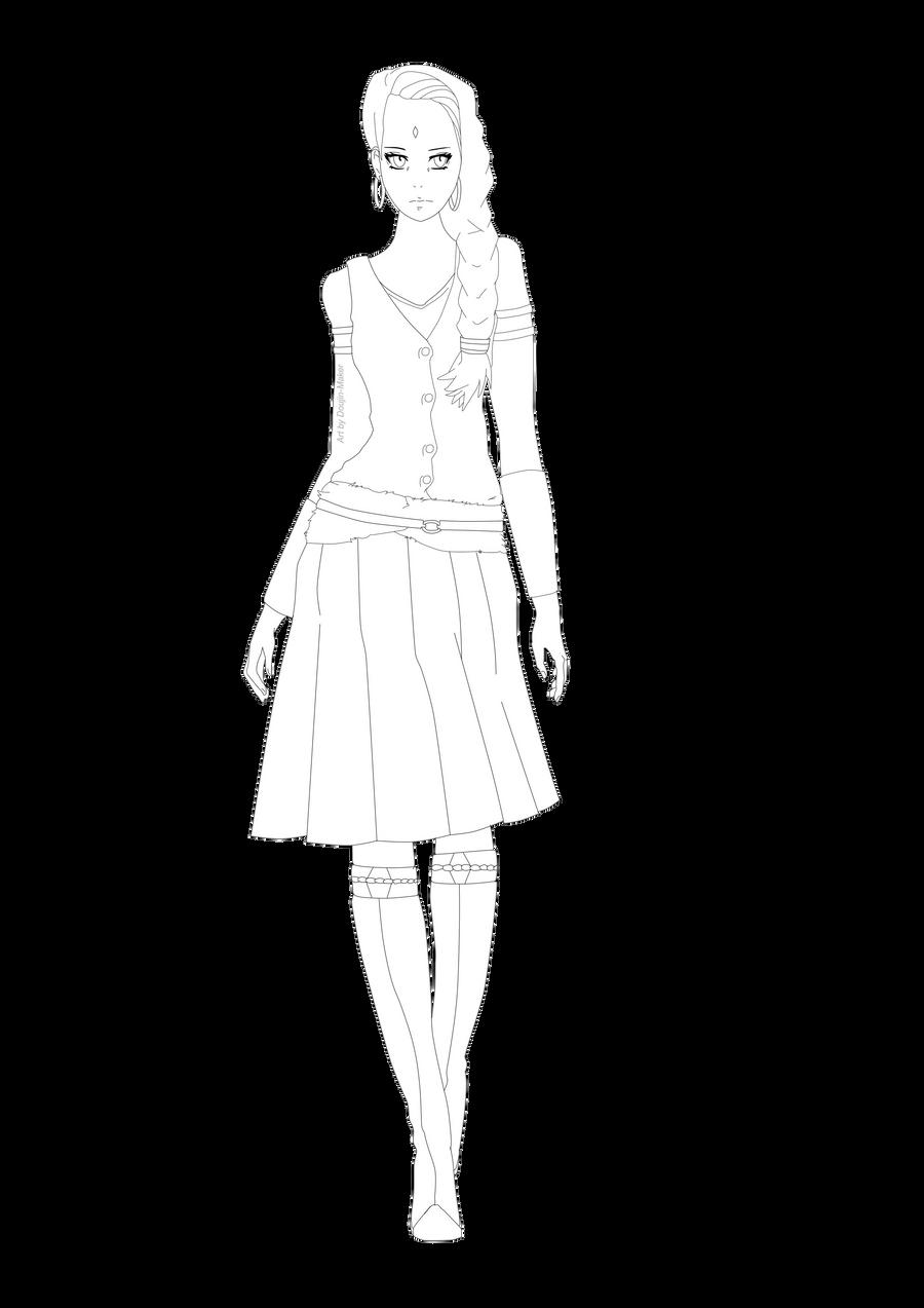 Line Art Generator From Image : Future sakura line art by doujin maker on deviantart