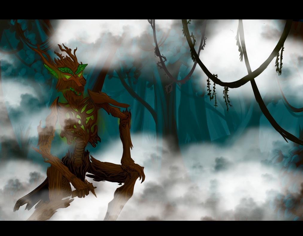 Timber werewolf by Smolinek
