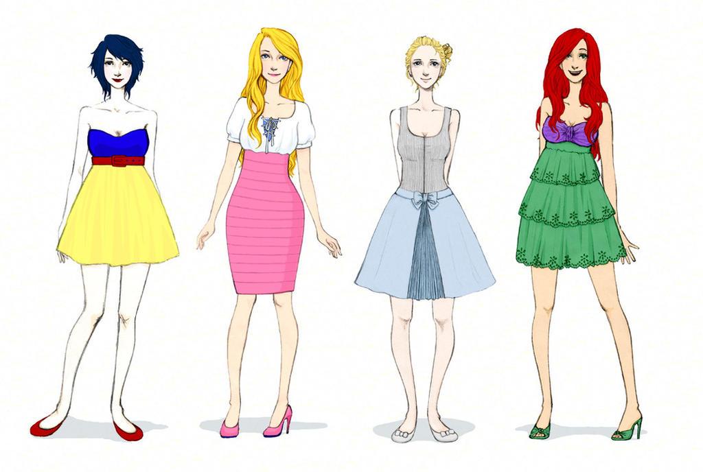 Modern Disney Fashion by lololalah