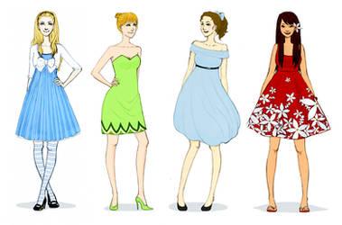 Modern Disney Fashion 2 by lololalah