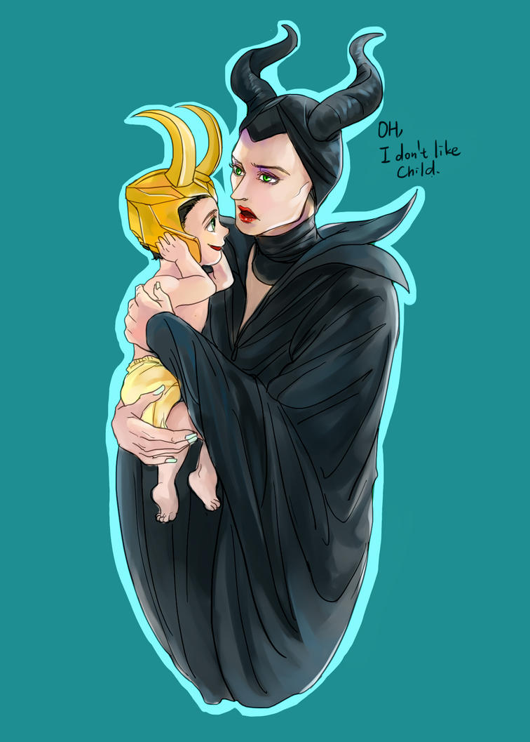 Maleficent and child Loki by fonin ...  sc 1 st  DeviantArt & Maleficent and child Loki by fonin on DeviantArt