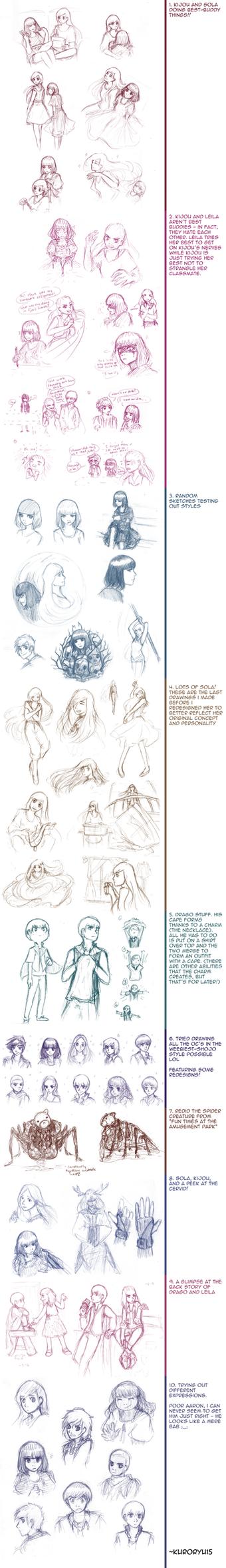OC Sketch Dump 6 by KuroRyu15
