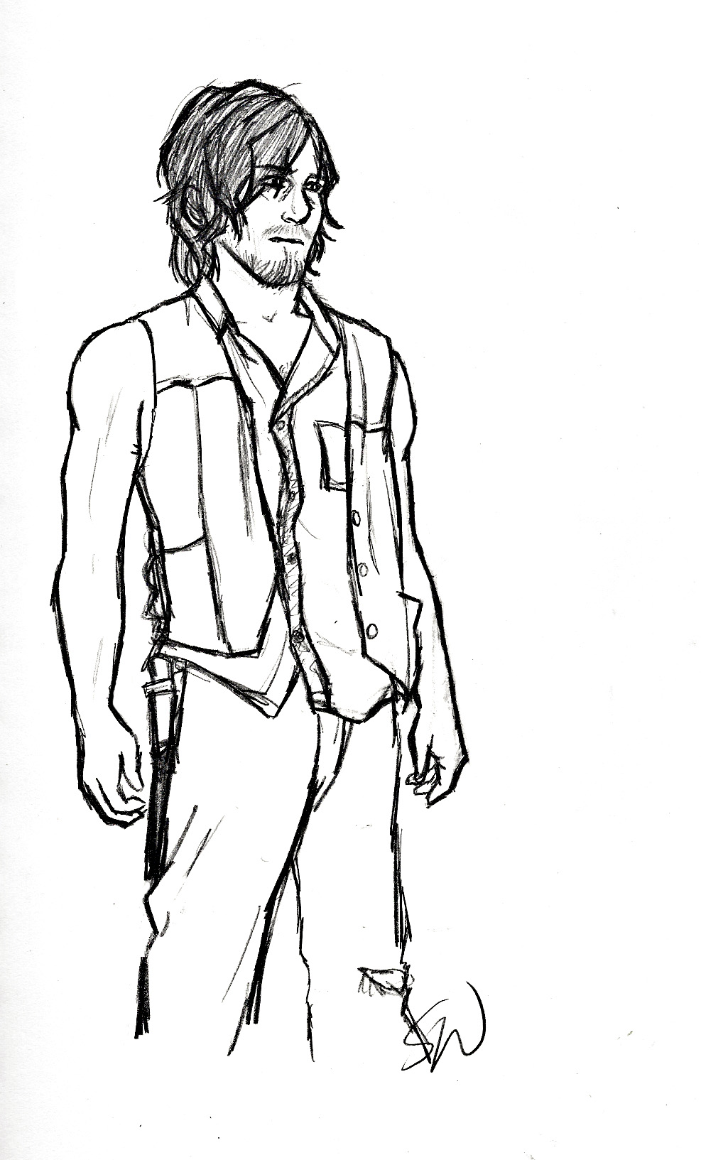 daryl dixon coloring pages - photo#22