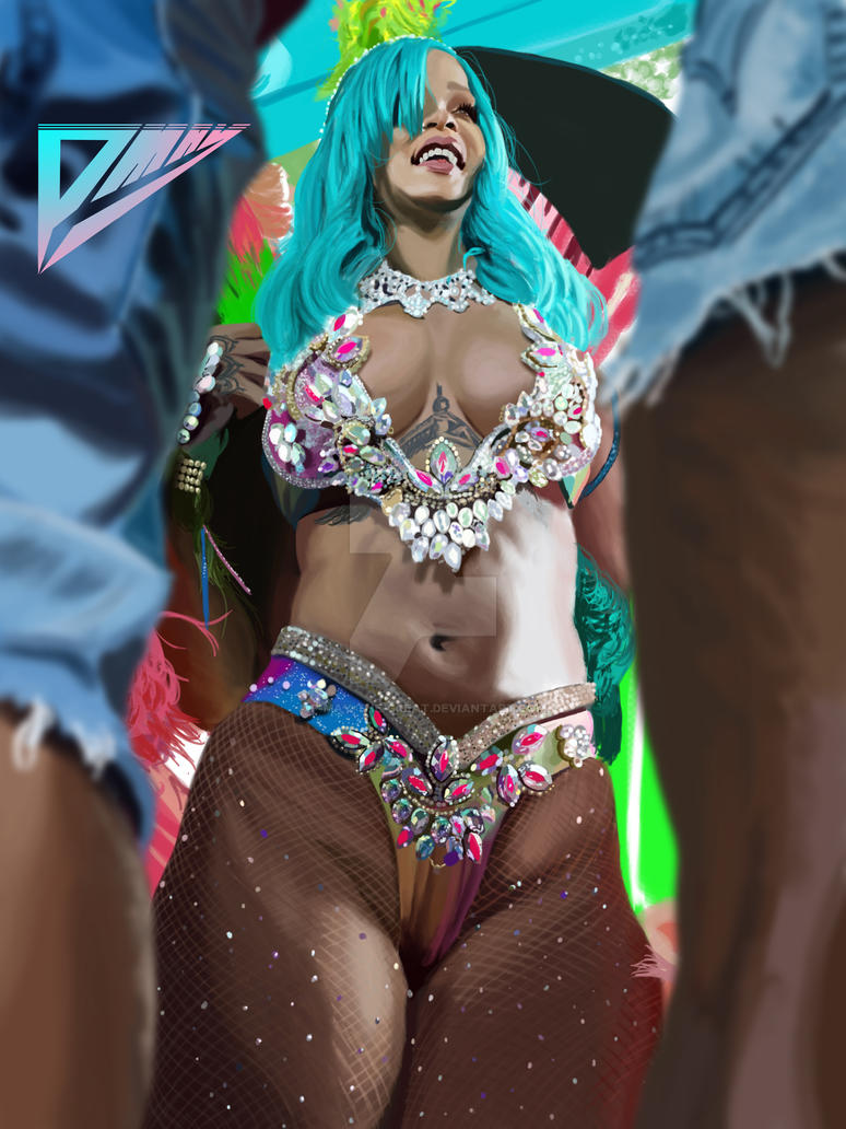 Thick Rihanna by P-May-The-Great