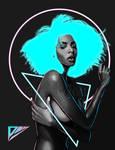 cyberpunk goddess
