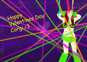 Happy Valentines Corgi