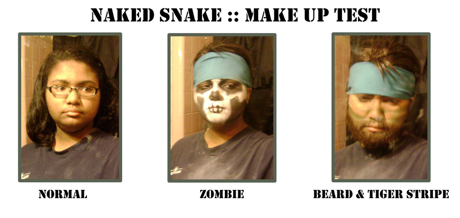 Naked Snake - Make Up Test by SnowBunnyStudios