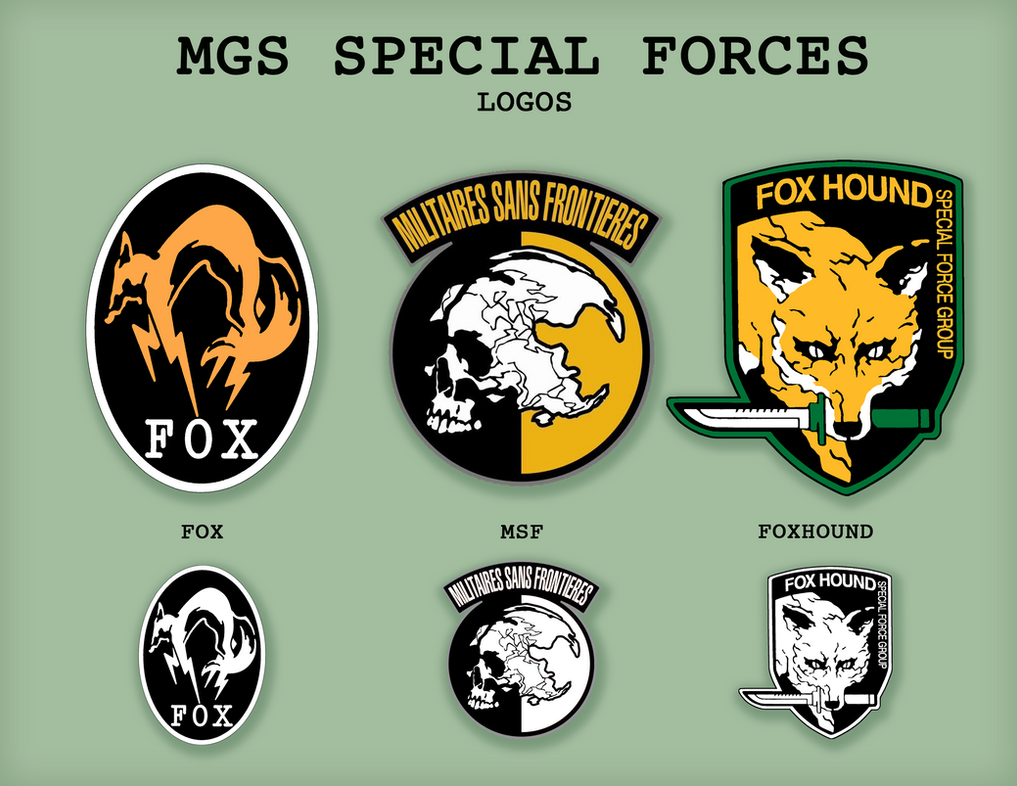 MGS Special Forces Logos By SnowBunnyStudios