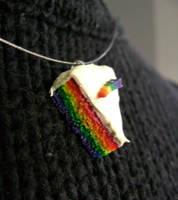 'Rainbow Cake' Necklace by SnowBunnyStudios