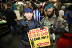 SDCC2012 - Naked and Solid Snake with Konami Code