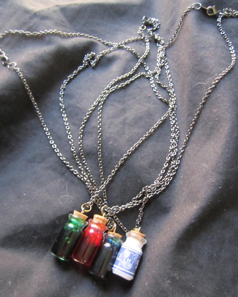 Legend of Zelda 'Potion Bottle' Necklace by SnowBunnyStudios